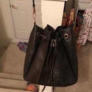 Handbags - Brown drawstring bucket bag
